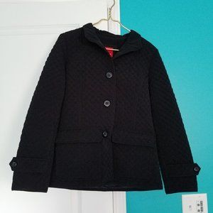 Esprit Outerwear Quilted Black Coat Size Small